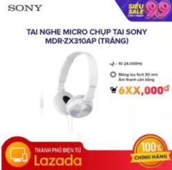 Tai nghe micro chụp tai Sony MDR-ZX310AP