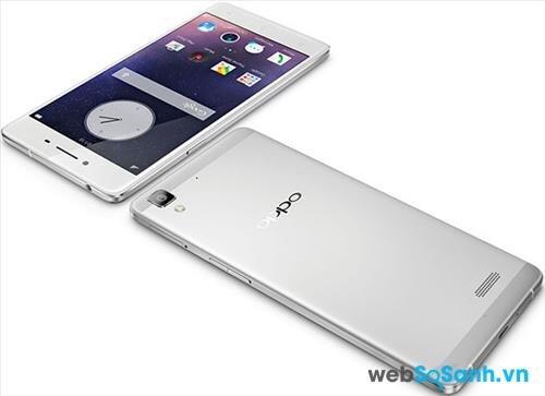 Smartphone Oppo R7 Lite sở hữu thiết kế nguyên khối từ hợp kim nhôm – magie