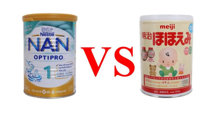 Sữa Meiji và Nan : sữa công thức nào tốt cho trẻ sơ sinh ?