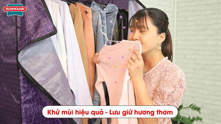 Máy sấy quần áo Sunhouse SHD2707 khử mùi hiệu quả