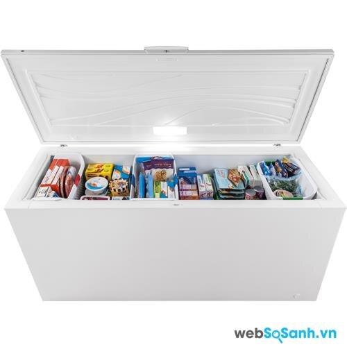 sắp xếp thực phẩm hợp lí là một cách hiệu quả để tủ đông hoạt động tốt và tiết kiệm điện năng