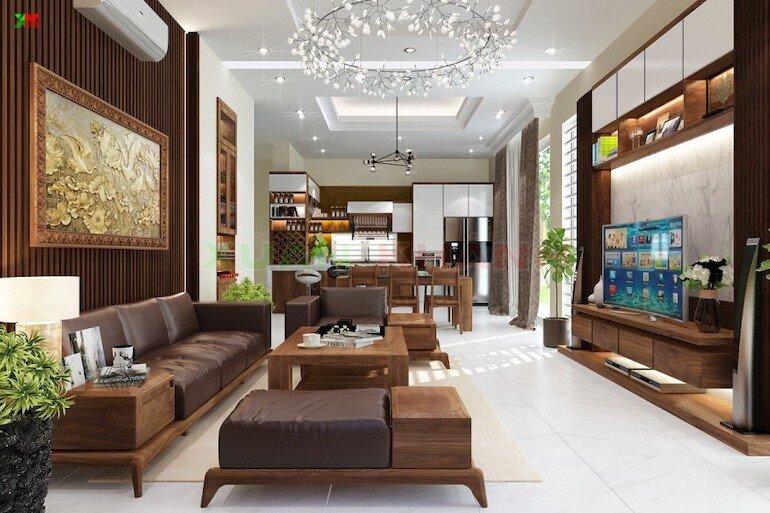 Độ bền của nội thất phòng khách hiện đại không cao