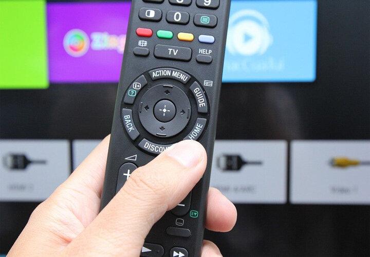 Chọn nút Home trên remote để chọn về chế độ xem truyền hình