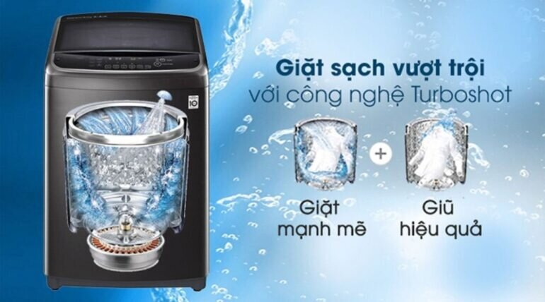 Máy giặt công nghiệp LG Inverter 22 kg TH2722SSAK - Giá tham khảo khoảng 15 triệu vnđ/ chiếc
