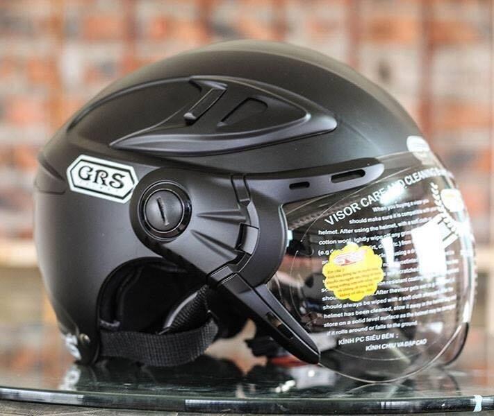 Mũ bảo hiểm nửa đầu GRS A966K - 2 lớp kính