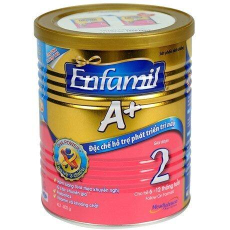 Sữa bột Enfamil A+ 2 - hộp 400g (dành cho trẻ từ 6 - 12 tháng)