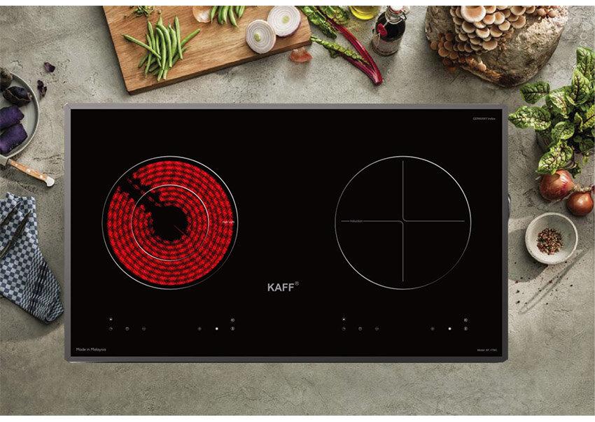 Bếp hồng ngoại đôi Kaff sử dụng bảng điều khiển cảm ứng dễ điều chỉnh
