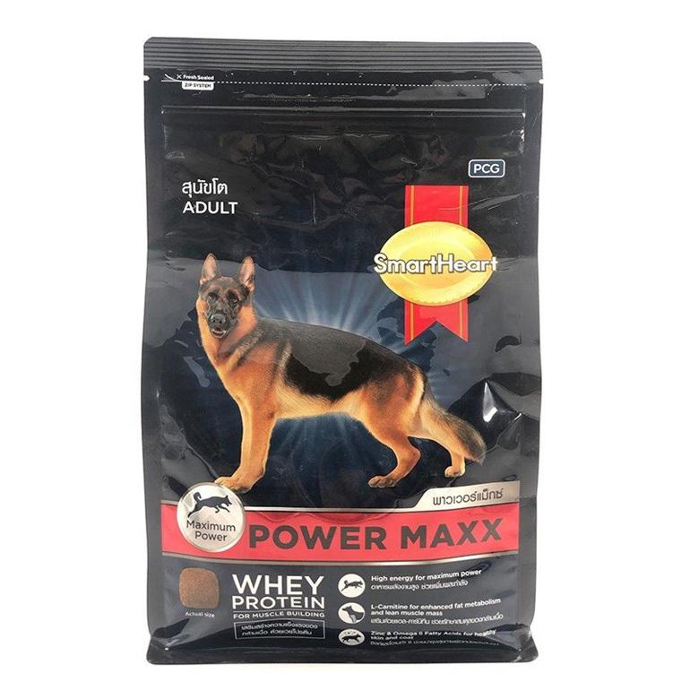 Thức ăn cho chó Becgie trưởng thành Smartheart Power Maxx