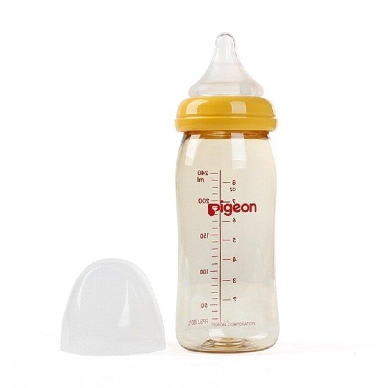 Bình sữa Pigeon được làm nhựa PPSU cao cấp nhất trong các loại nhựa