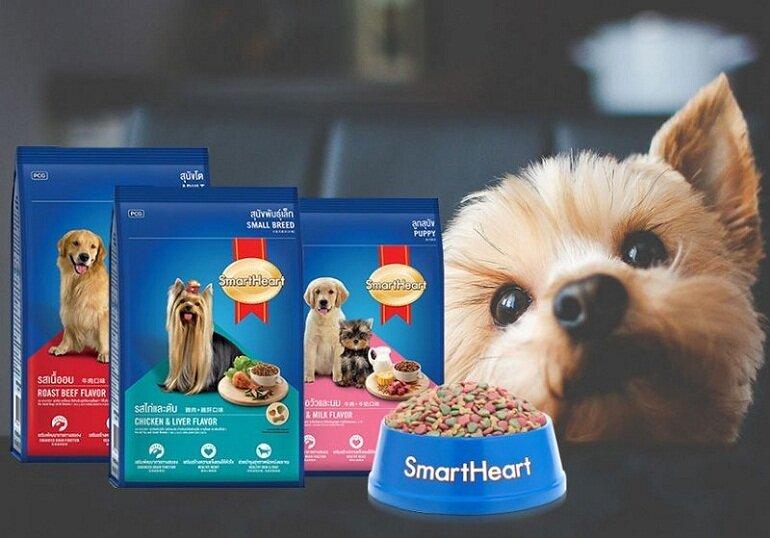 Thức ăn khô giá rẻ cho chó Smartheart