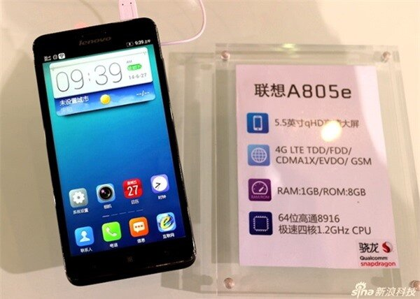 Lenovo trình làng smartphone tầm trung dùng SoC 64 bit