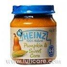 Thức ăn dặm bí đỏ, bắp ngọt nghiền Heinz 110g (dành cho trẻ từ 4-6 tháng tuổi)