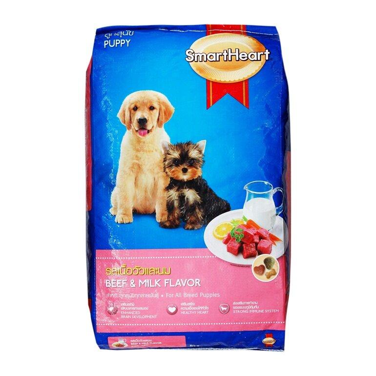 Thức ăn cho chó con Smartheart Puppy Beef & Milk Flavor