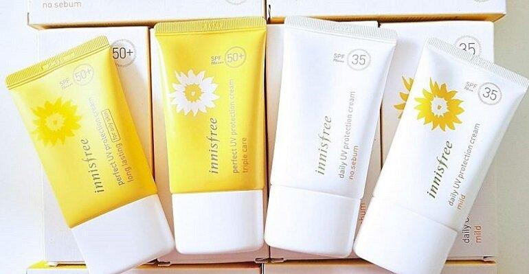 Top 5 sản phẩm kem chống nắng Innisfree đang làm mưa làm gió trên thị trường