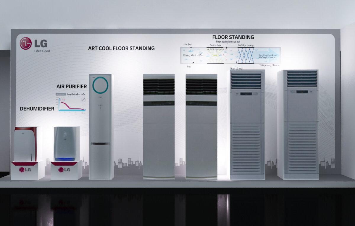 Máy lạnh LG thiết kế tinh tế, đa dạng
