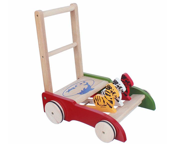 Xe tập đi bằng gỗ IQ Toy ngựa vằn
