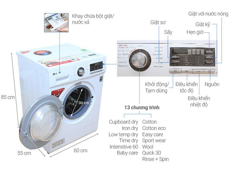 Máy giặt sấy LG WD-18600 có tốt không