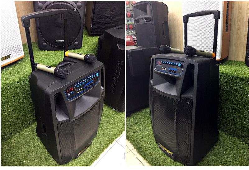 Mẫu Loa vali kéo di động Bluetooth Karaoke TEMEISHENG SL15-01