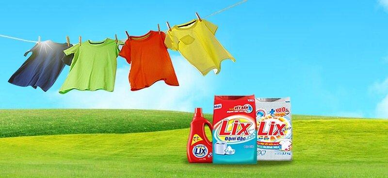 Lix là thương hiệu đứng thứ 2 trên thị trường bột giặt Việt Nam