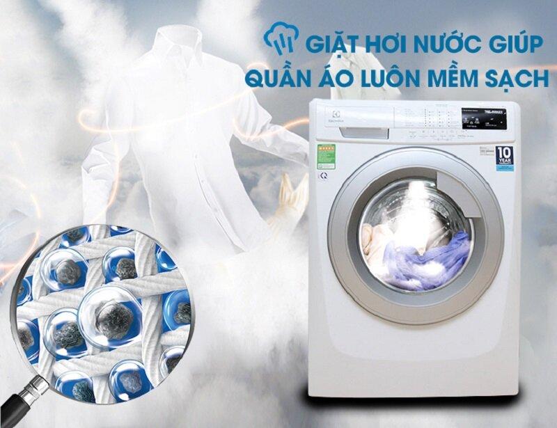 Quần áo sạch sẽ khi sử dụng máy giặt Electrolux