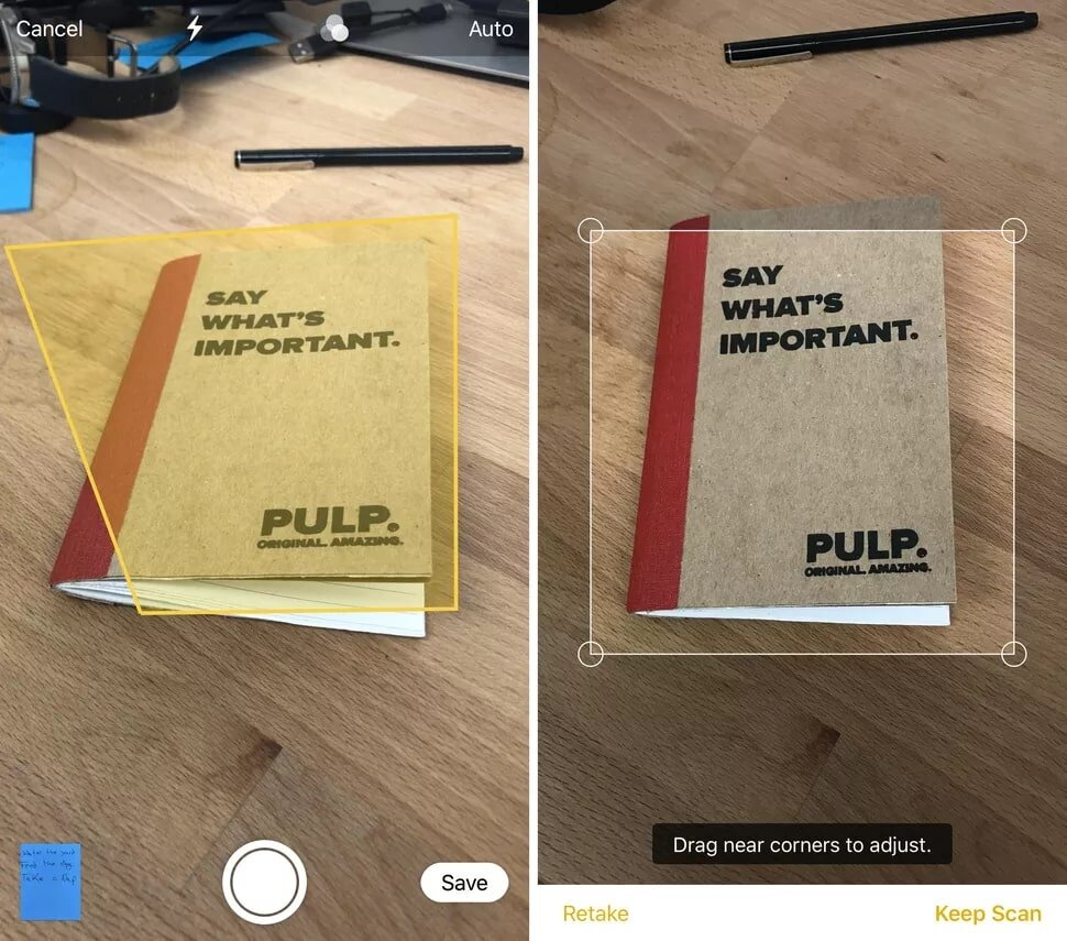 Scan văn bản nhanh trên iPad