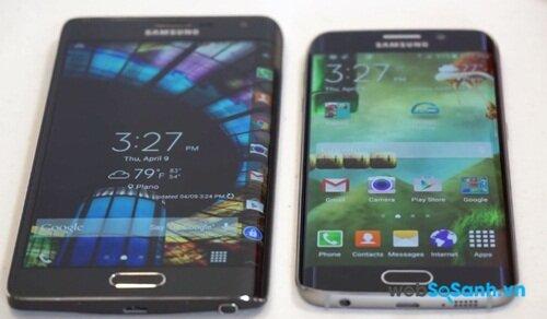 Hai mẫu smartphone cùng sử dụng công nghệ màn hình Super AMOLED cho chất lượng hình ảnh sống dộng