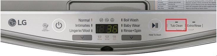 Tính năng tub clean trên máy giặt LG T2735NWLV