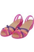 Giày Đế Sùn nữ Crocs Huarache Mini Wedge WomenVibrant Violet Melon (Hồng Tím)