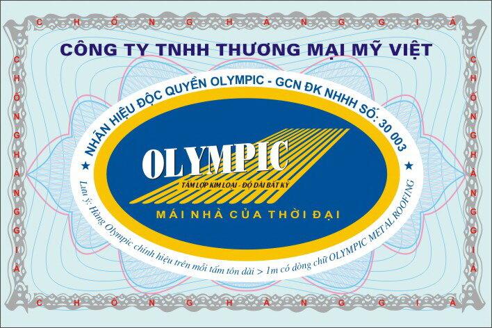 Tem thương hiệu Olympic