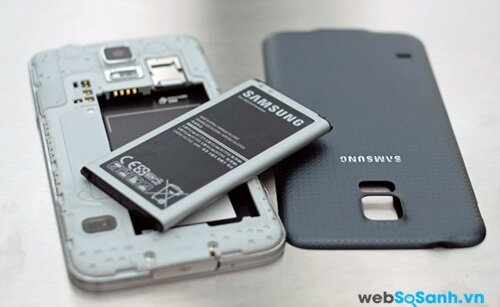 Pin của Galaxy S5 có thể tháo rời