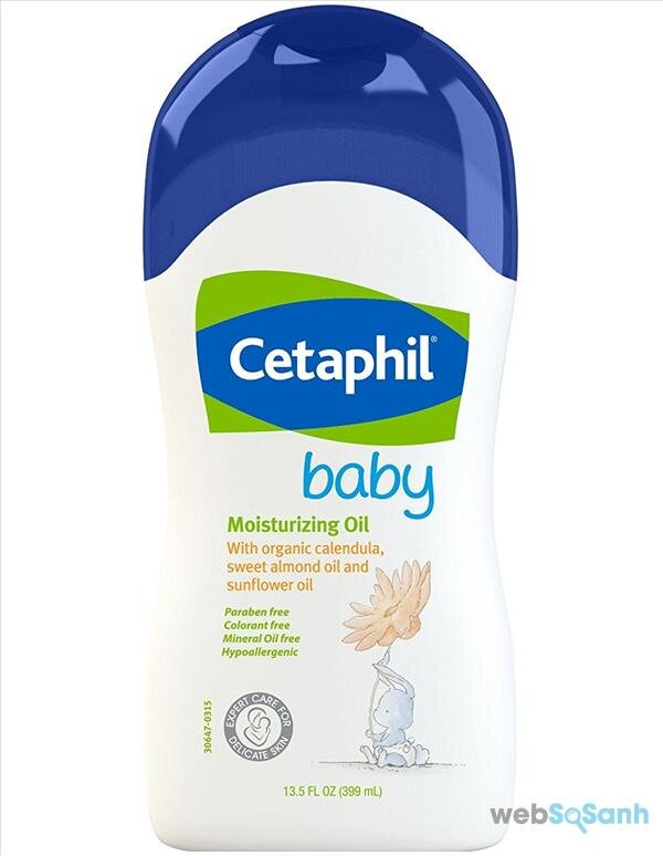 dầu dưỡng ẩm da massage cho bé cetaphil