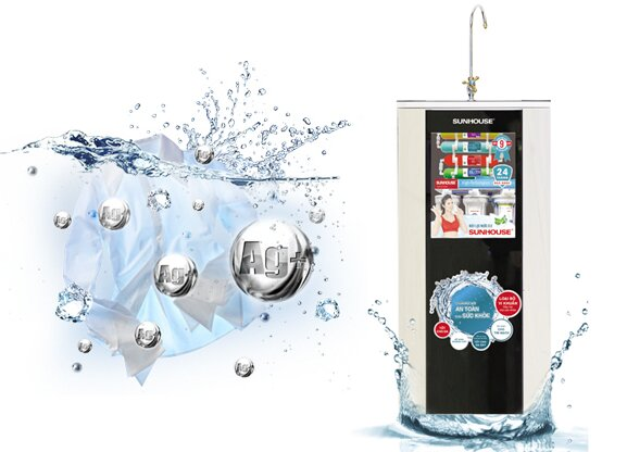Máy lọc nước Sunhouse loại bỏ 99% vi khuẩn có trong nguồn nước