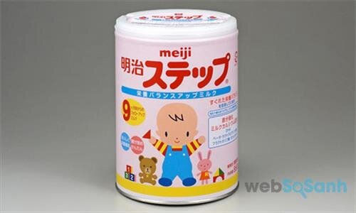 Cùng là sữa bột Meiji nhưng sữa số 0 sẽ có công thức khác so với sữa số 9