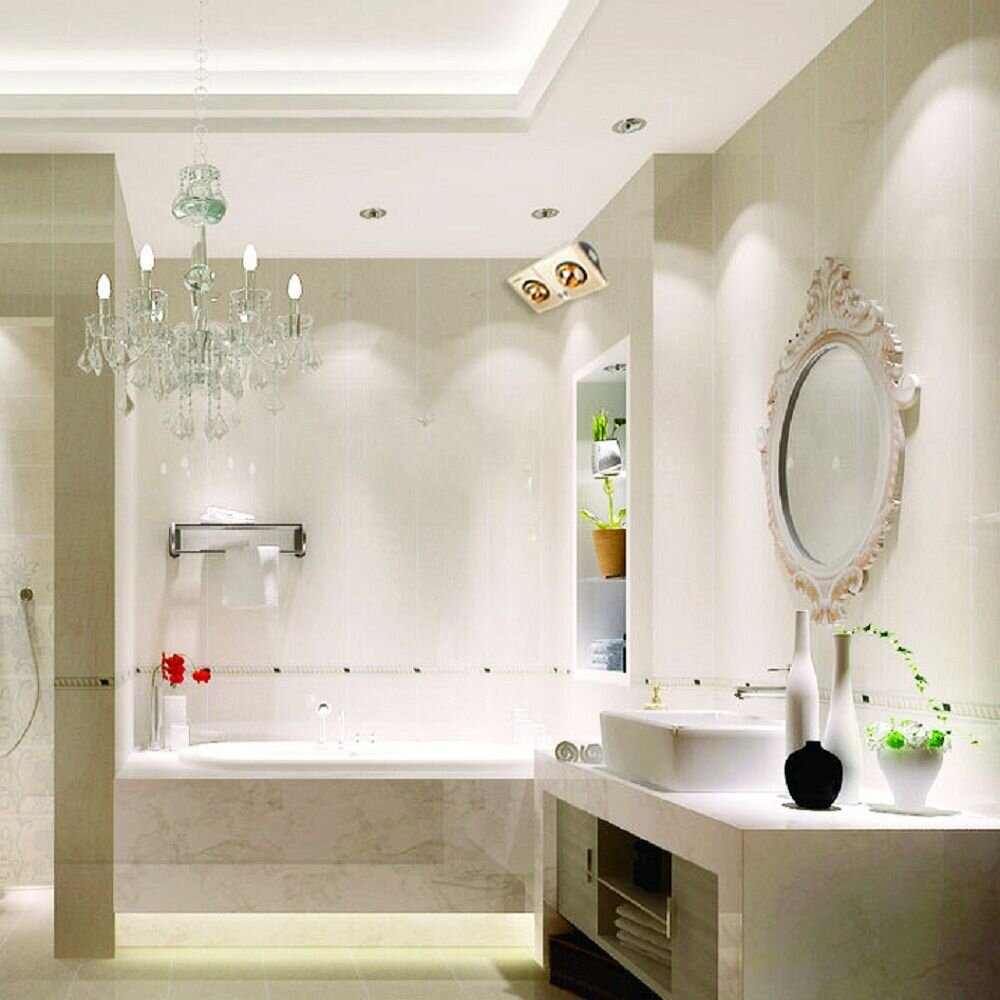Đèn sưởi nhà tắm 2 bóng Kohn KN02G đạt tiêu chuẩn châu Âu về chất lượng