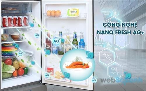 tủ lạnh sanyo công nghệ kháng khuẩn khử mùi