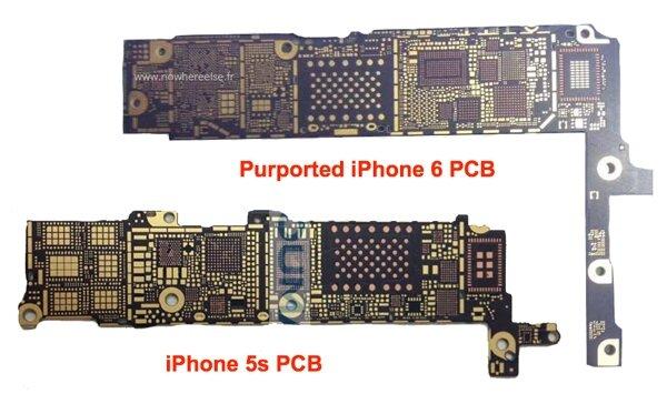 Hình ảnh bo mach của iPhone 6 được đăng tải trên trang NowWhereElse