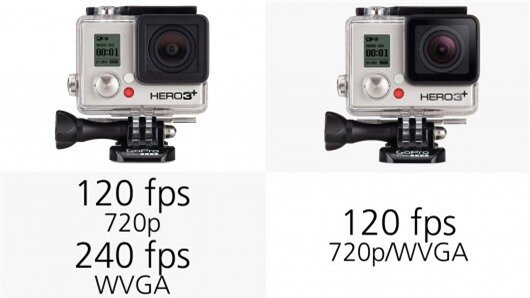 The GoPro Hero3+ cameras can shoot 120 fps footage at 720p