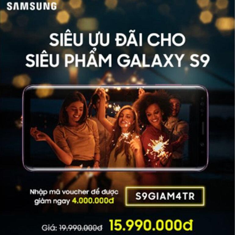 Siêu ưu đãi cho siêu phẩm Samsung Galaxy S9