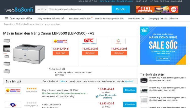 Giá máy in canon lbp3500 bao nhiêu tiền ?
