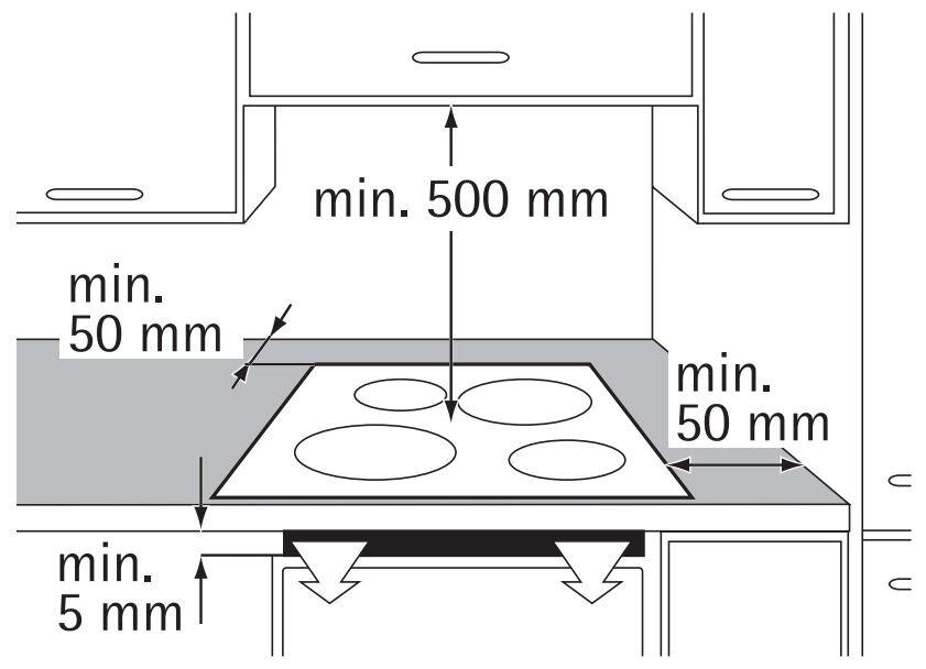 Kích thước của bếptừ âm 4 vùng nấu AEG HK634150XB