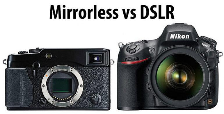 Sự khác biệt rõ rệt về ngoại hình giữa máy ảnh Mirrorless và DSLR