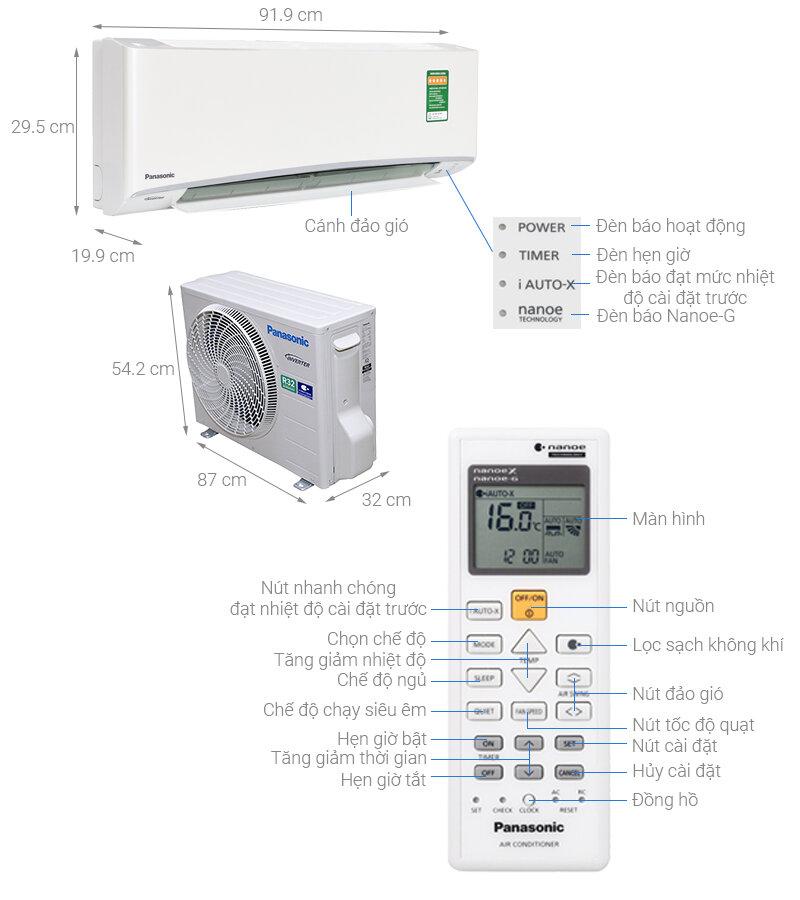 Máy lạnh Panasonic CS-U12TKH-8