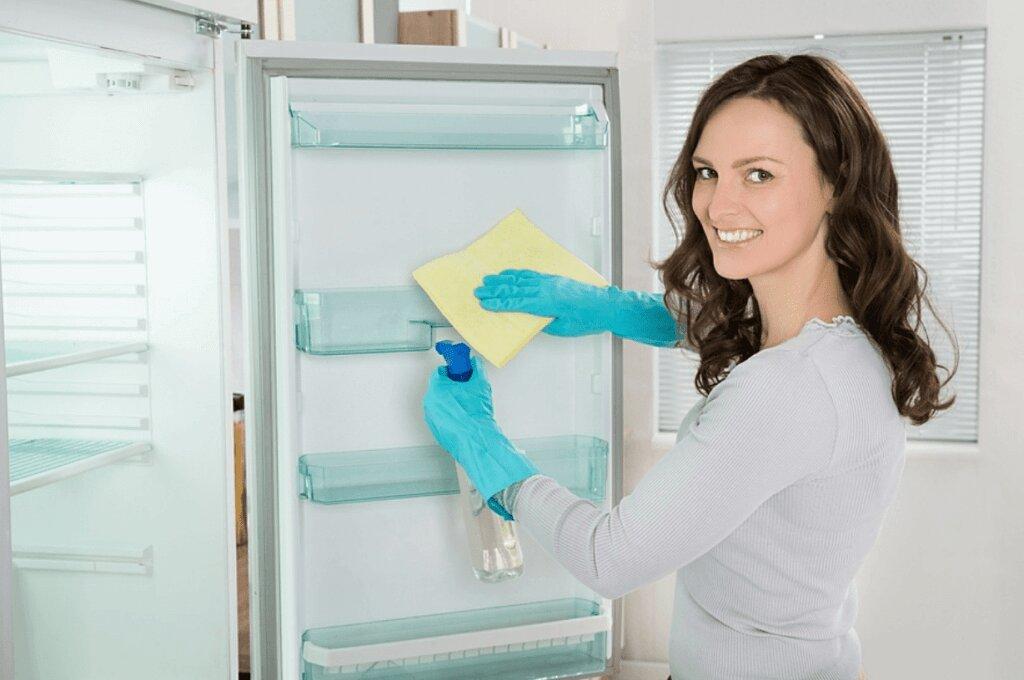 Bạn cũng nên thường xuyên vệ sinh tủ lạnh khi dùng