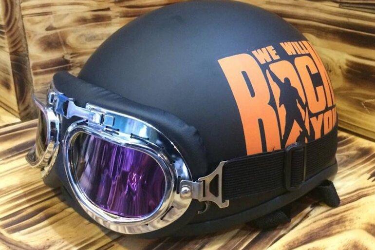 Mũ bảo hiểm mô tô có kính chắn gió bụi, tia UV tối ưu