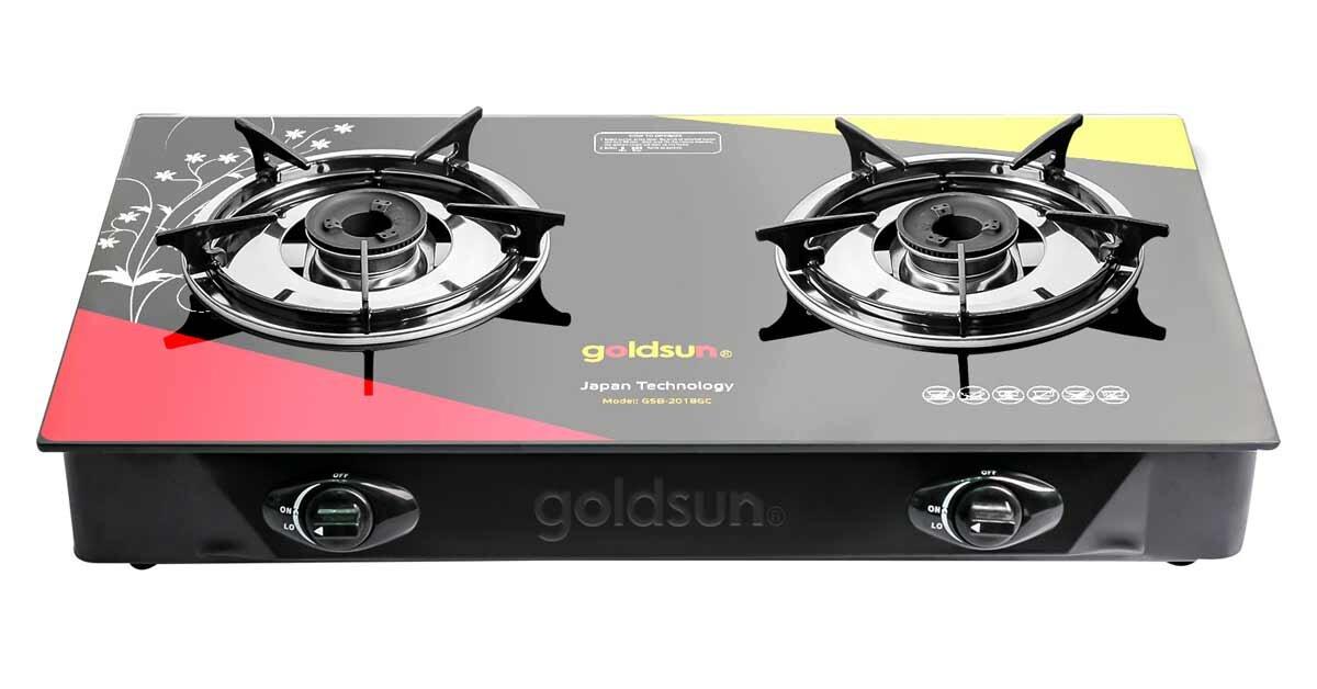 Bếp gas dương đôi Goldsun GSB-2018GC