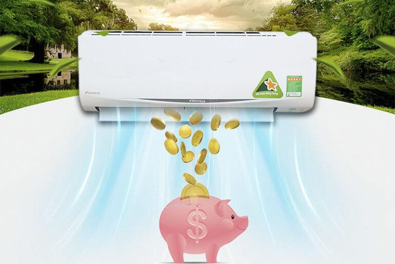 Điều hòa - Máy lạnh Daikin FTKC25RVMV 1 chiều 9000BTU Inverter đem đến khả năng tiết kiệm điện vượt trội nhờ công nghệ inverter hiện đại
