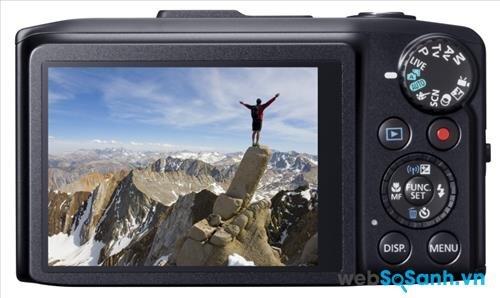 Canon PowerShot SX280 HS sở hữu màn hình cảm ứng công nghệ TFT, kích thước 3 inch với 461 000 dot