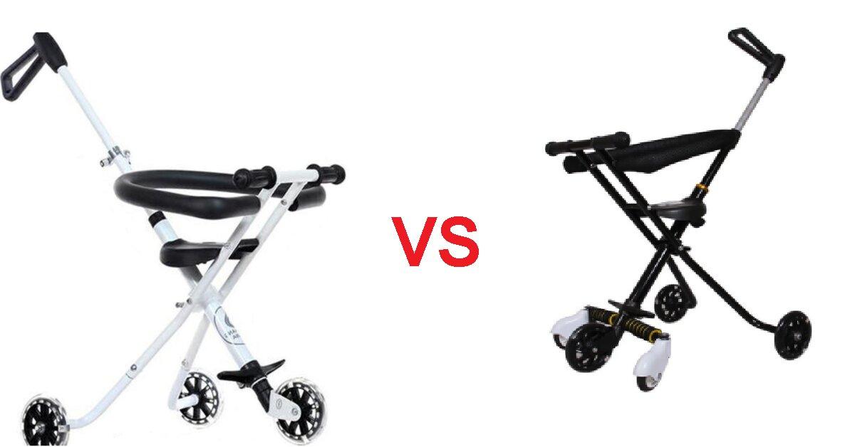 So sánh xe đẩy gấp gọn 3 bánh và 5 bánh - nên chọn mua loại nào?