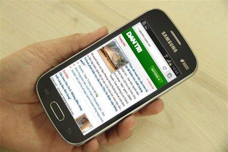 Galaxy Trend Lite có màn hình 4 inch với độ phân giải giải 800 x 480 pixels.