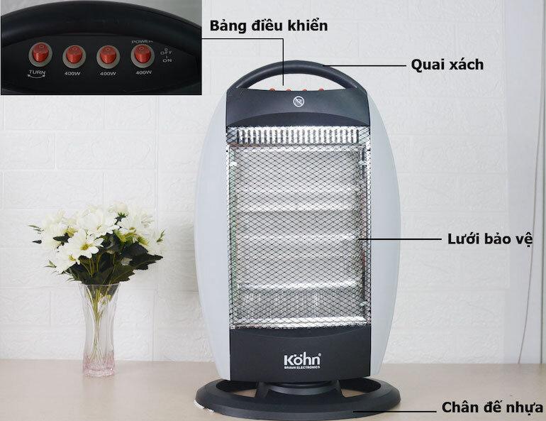 Đèn sưởi halogen Braun Kohn KH01